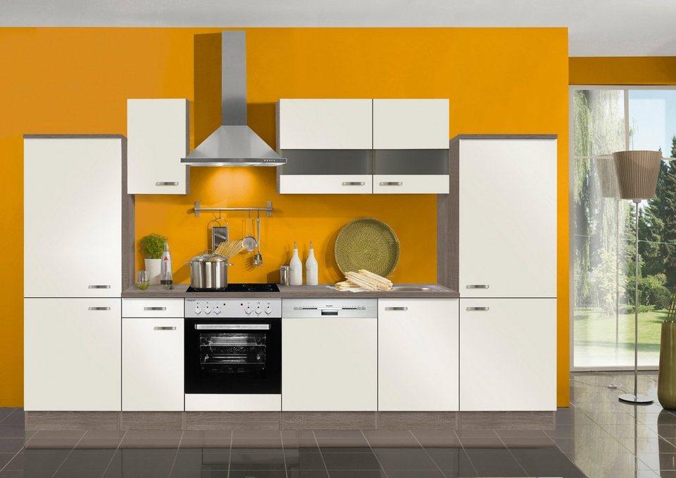 Küchenzeile ohne E-Geräte »Rom«, Breite 330 cm in creme