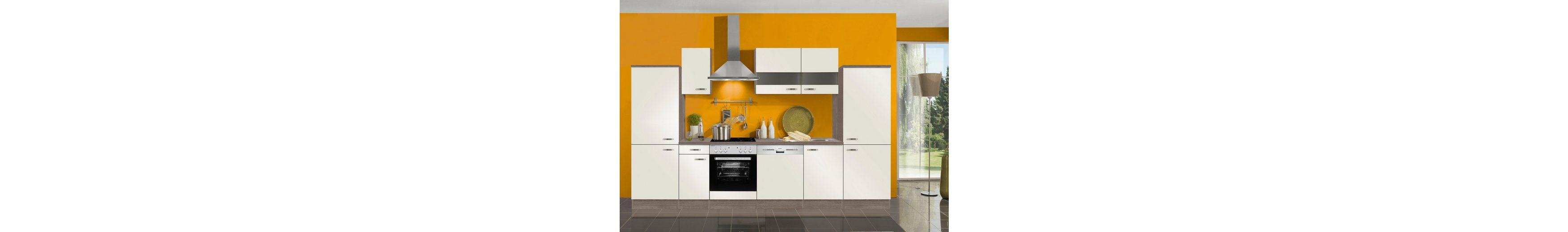 Küchenzeile ohne E-Geräte »Rom«, Breite 330 cm