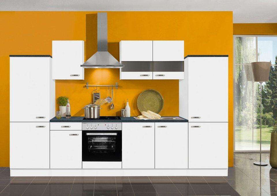 Küchenzeile ohne E-Geräte »Lagos«, Breite 330 cm in weiß