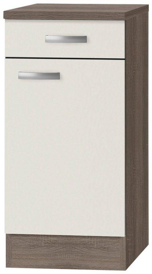 Küchenunterschrank »Rom«, Breite 40 cm in cremefarben