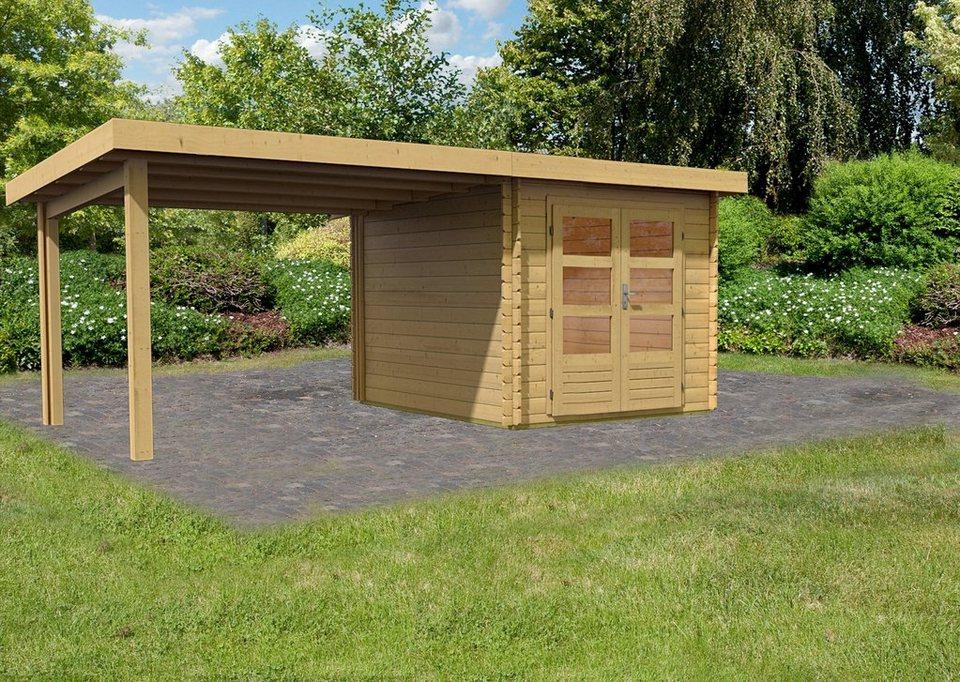 Gartenhaus »Ringköbing 4«, BxT: 220 x 280 cm, mit Anbau in natur