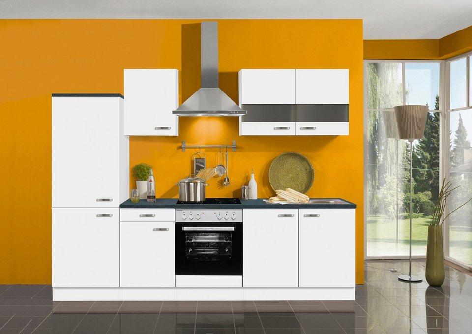 Küchenzeile ohne E-Geräte »Lagos«, Breite 270 cm in weiß