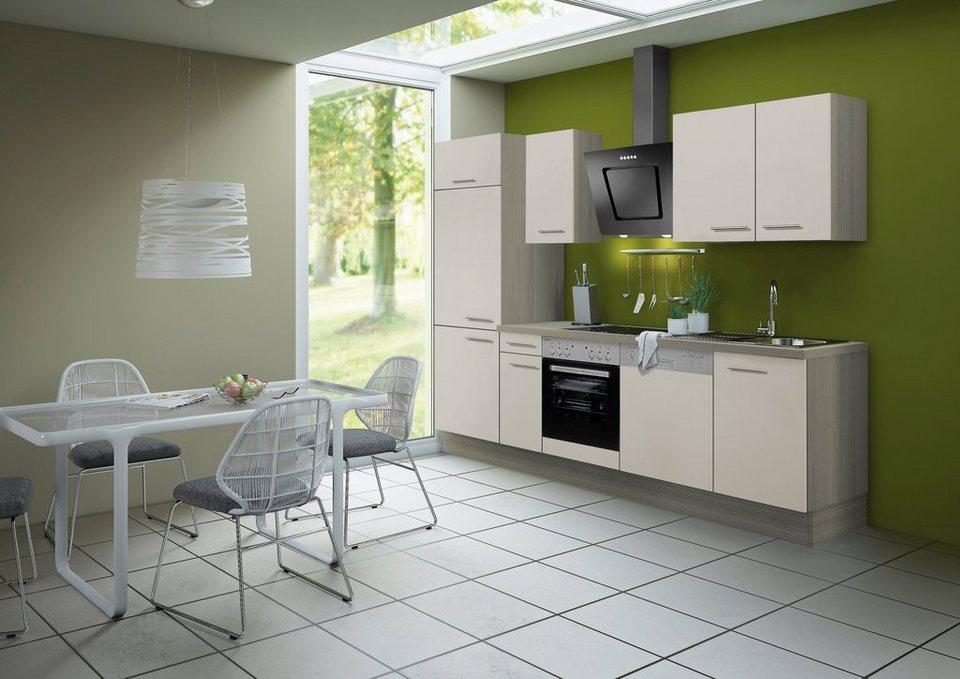 Küchenzeile ohne E-Geräte »Finn«, Breite 270 cm in sandfarben
