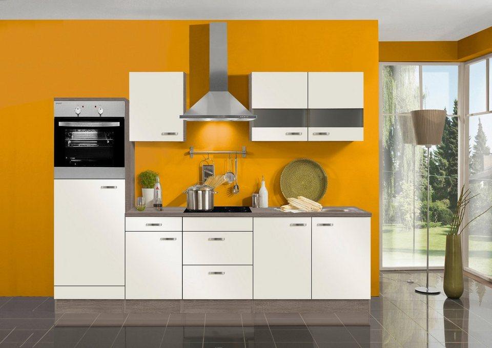 Optifit Küchenzeile ohne E-Geräte »Rom«, Breite 270 cm in creme
