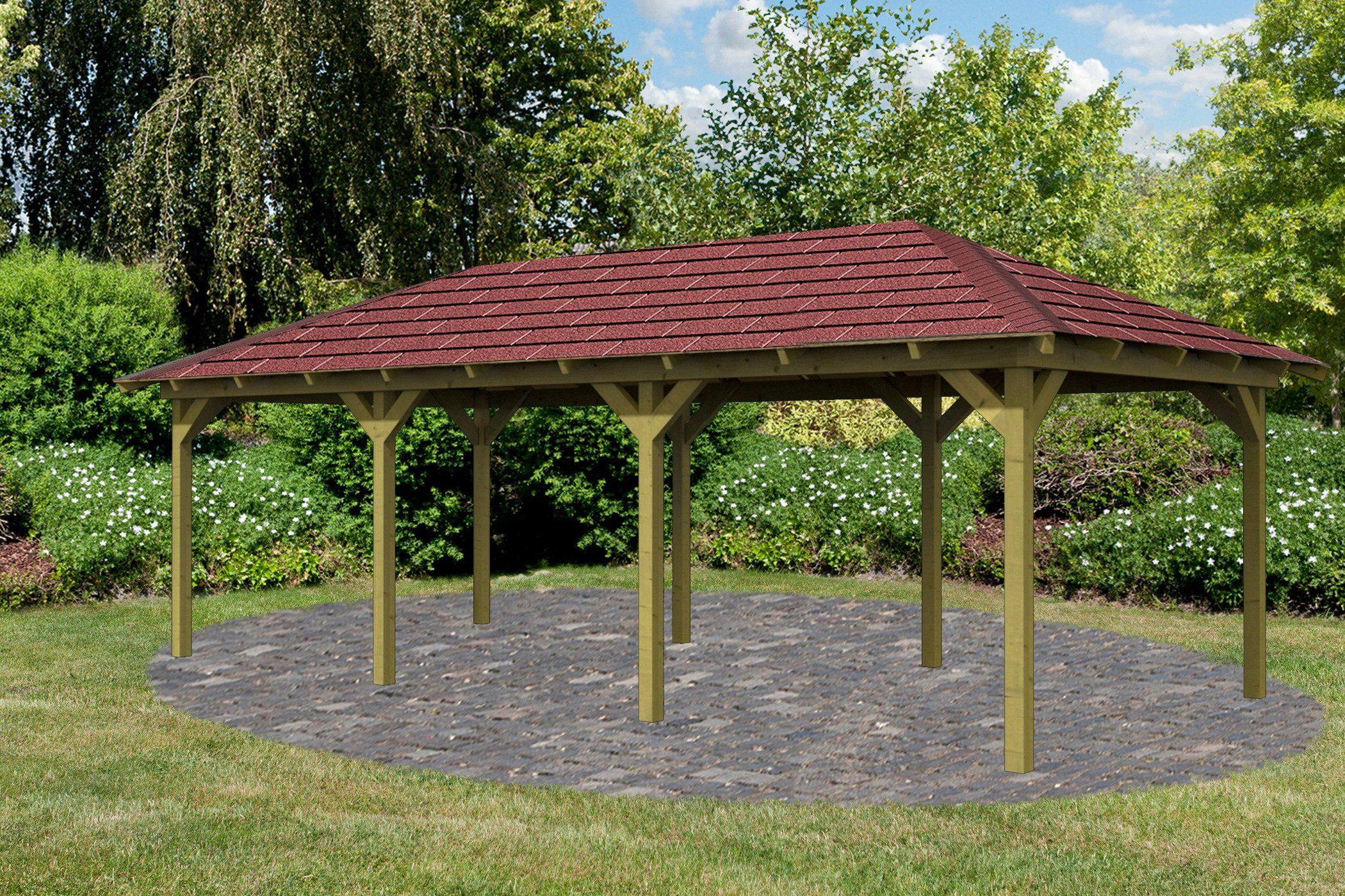 Karibu Holzpavillon »Mailand 2«Set