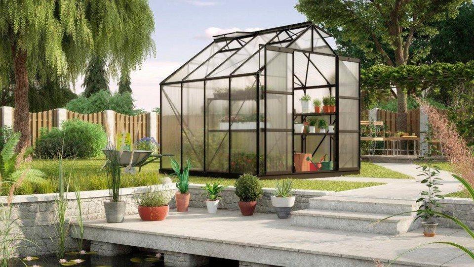 vitavia gew chshaus uranus 6700 bxtxh 254x254x246 cm schwarz 6 mm online kaufen otto. Black Bedroom Furniture Sets. Home Design Ideas
