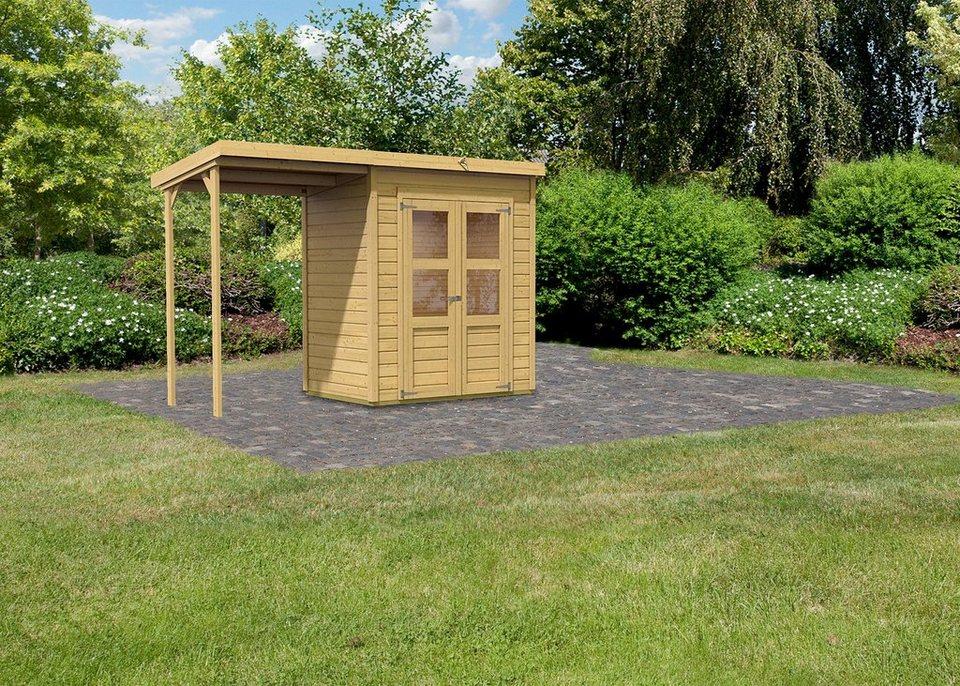 Karibu Set: Gartenhaus »Moisburg 1«, BxT: 182x122 cm in natur