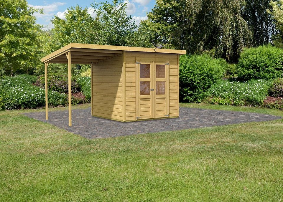Karibu Set: Gartenhaus »Moisburg 4«, BxT: 242x214 cm in natur