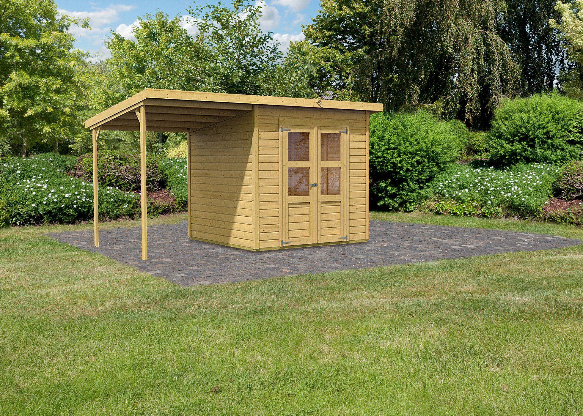 KARIBU Gartenhaus »Moisburg 4«, BxT: 242x214 cm