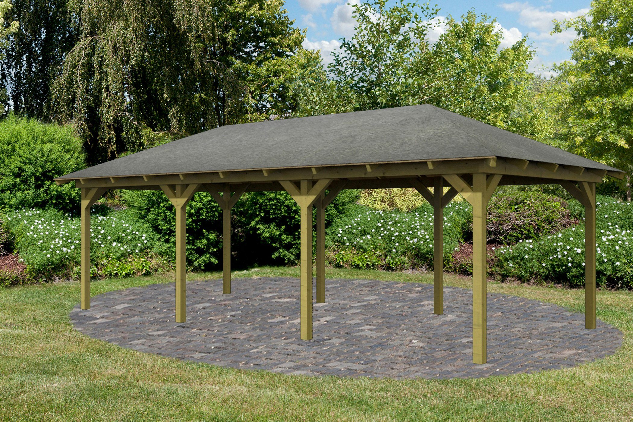 Karibu Holzpavillon »Mailand 2«