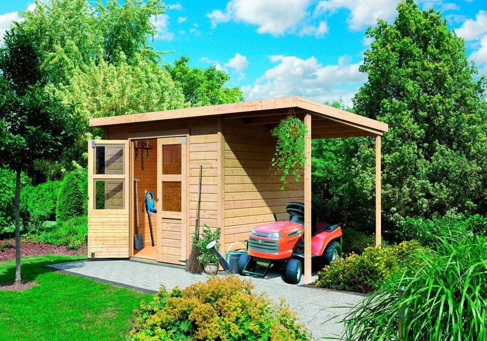 karibu set gartenhaus moisburg 2 gesamtma bxt 242x182 cm mit anbau 163 cm online kaufen. Black Bedroom Furniture Sets. Home Design Ideas