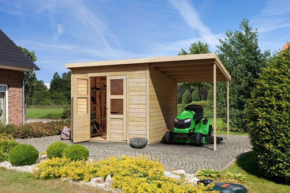Karibu Set: Gartenhaus »Moisburg 5«, BxT: 242x244 cm in natur