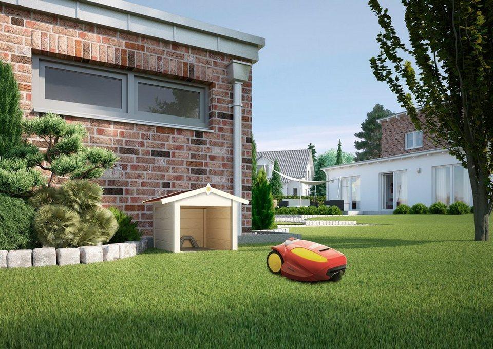 Mähroboter-Garage, naturbelassen in natur