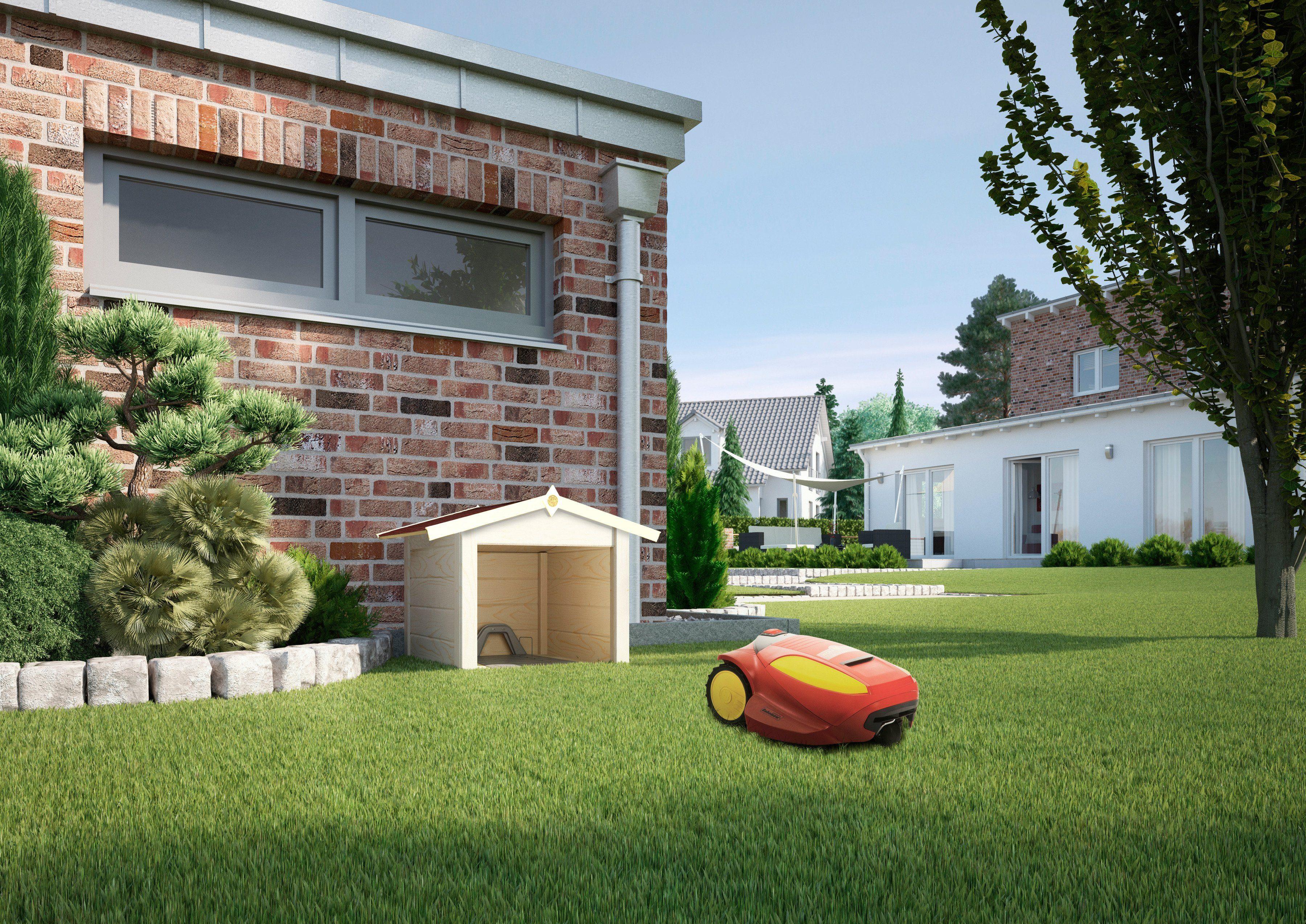 Mähroboter-Garage, naturbelassen