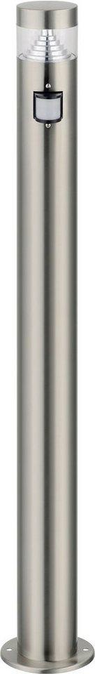 Standleuchte, Höhe 110 cm - mit Bewegungsmelder in silberfarben