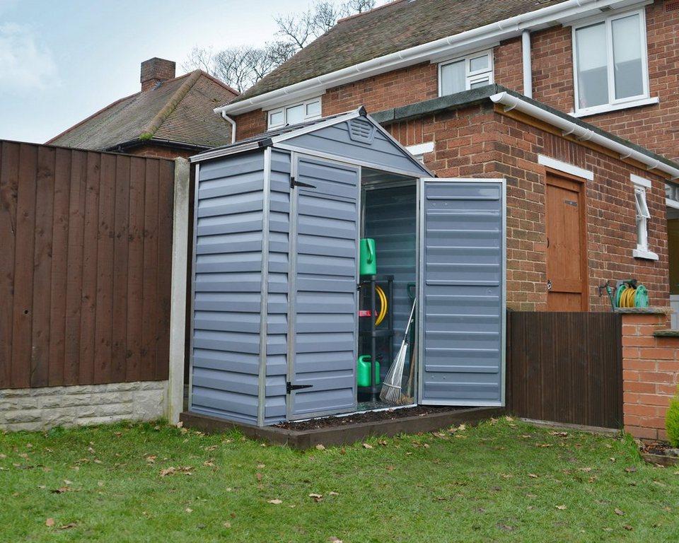 Kunststoffhaus »SKYLIGHT SHED 6x3« in grau