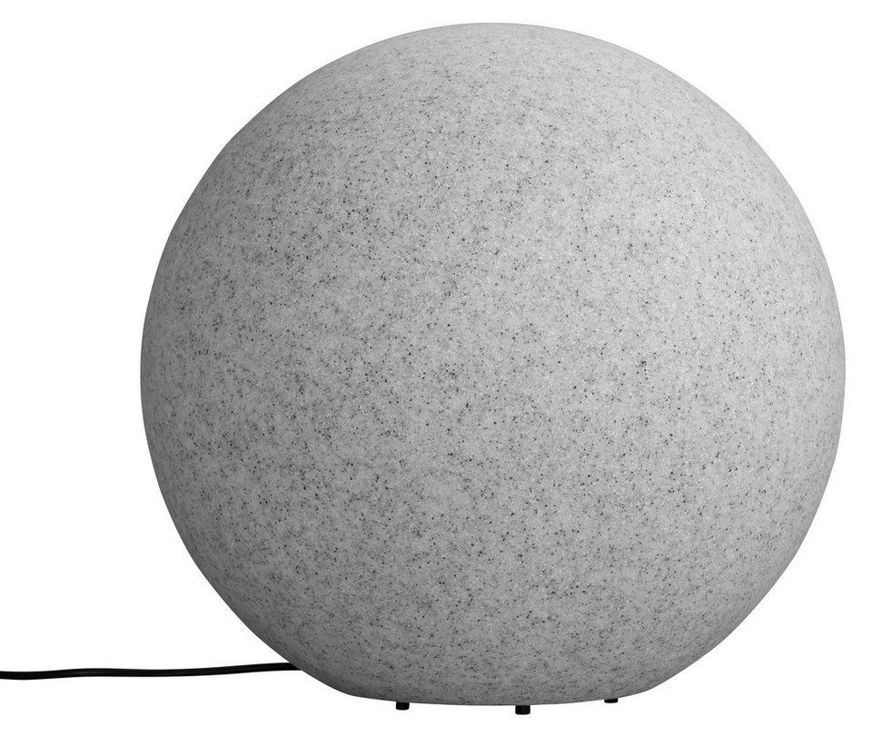 Leuchtkugel, granit 40cm in grau