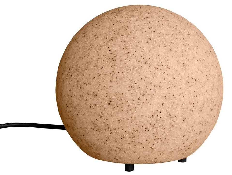 Leuchtkugel, sand 20cm in natur