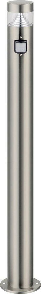 Standleuchte, Höhe 80 cm - mit Bewegungsmelder in silberfarben