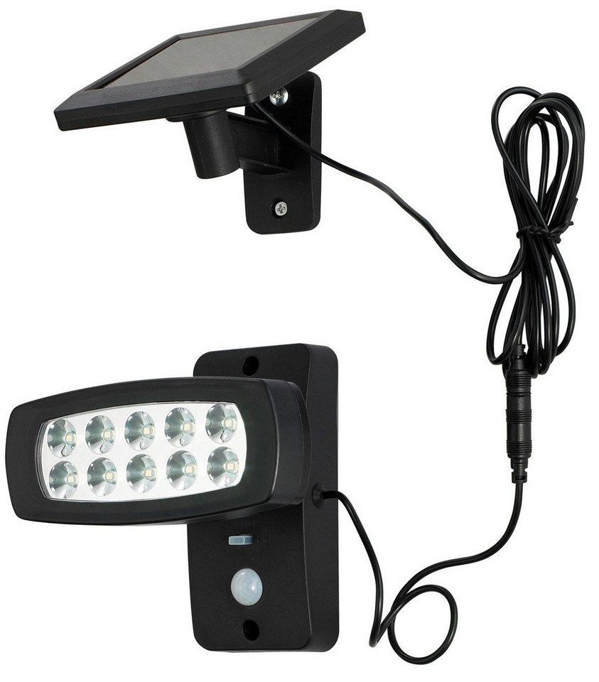 Solar LED Strahler in schwarz