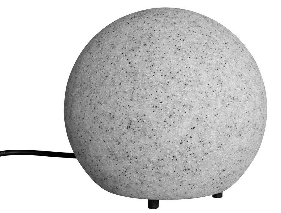 Leuchtkugel, granit 20cm in grau