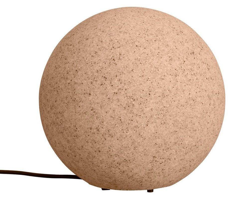 Leuchtkugel, sand 30cm in natur