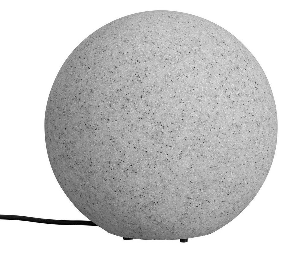 Leuchtkugel, granit 30cm in grau