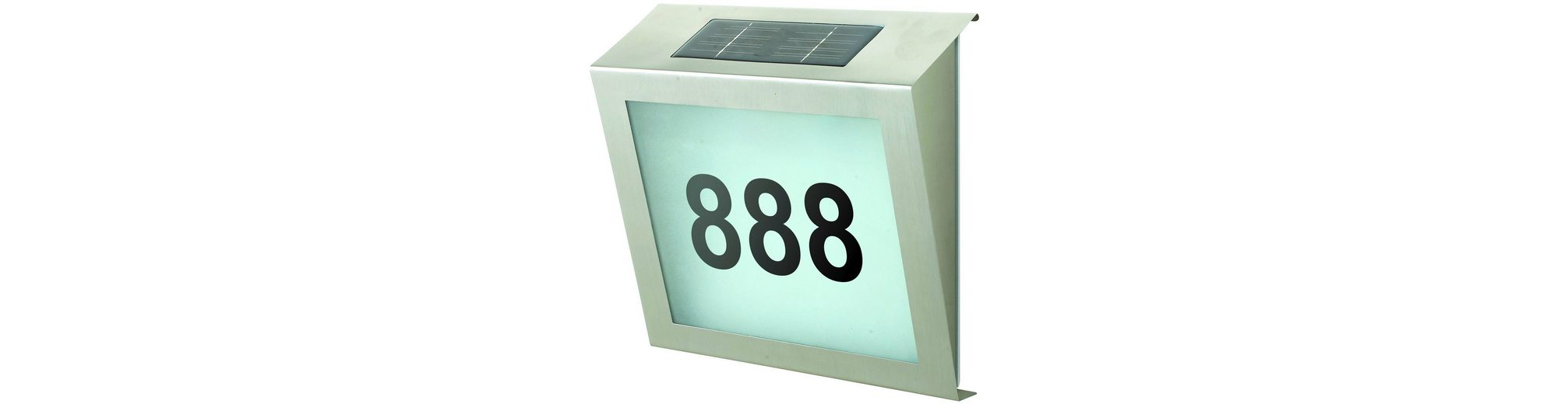 Solar Hausnummernleuchte
