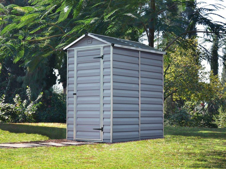 Kunststoffhaus »SKYLIGHT SHED 4x6« in silberfarben