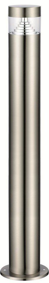 Standleuchte, Höhe 110 cm in silberfarben