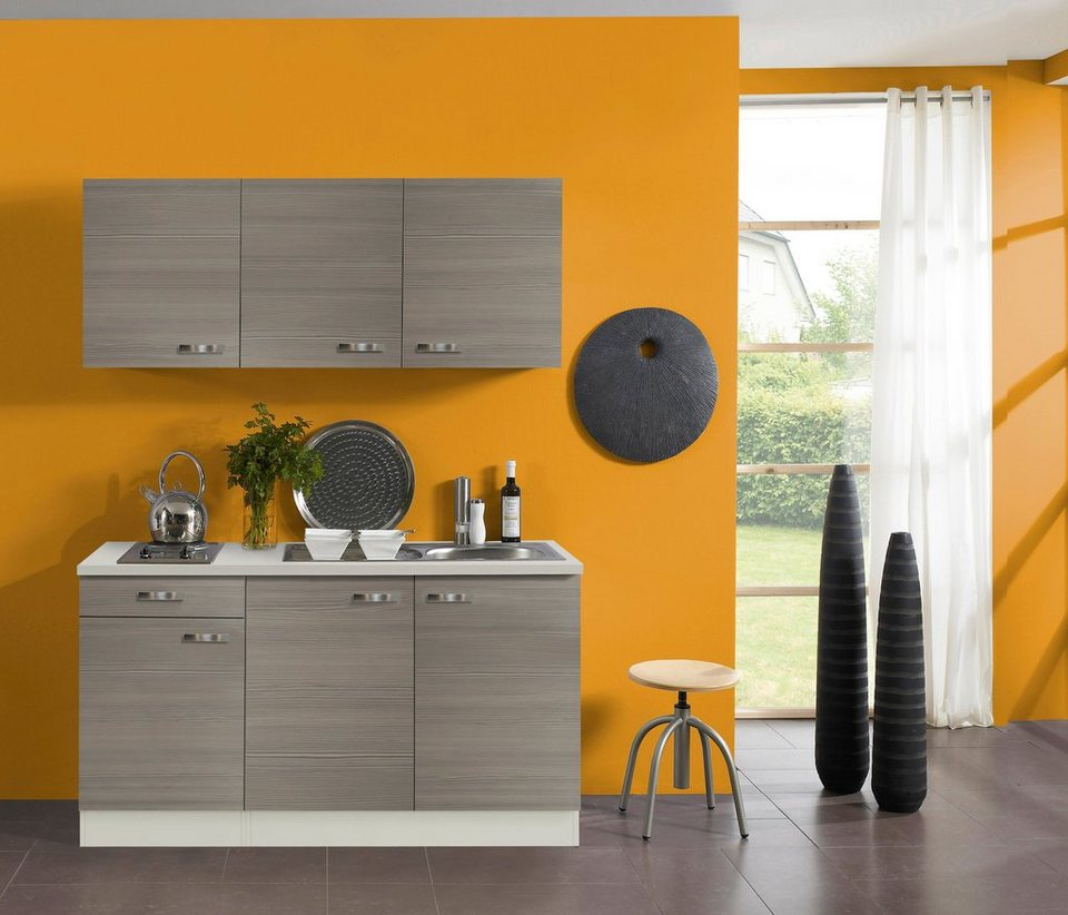 Küchenzeile mit E-Geräten »Vigo«, Breite 150 cm in piniefarben