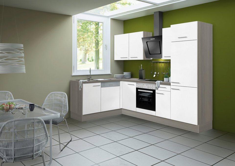 Küchenzeile ohne E-Geräte »Torger«, Breite 315 x 175 cm in weiß