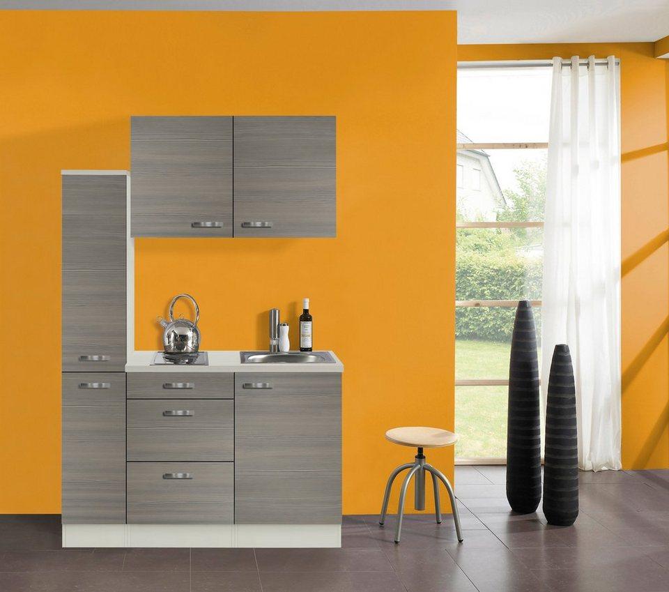 Küchenzeile mit E-Geräten »Vigo«, Breite 130 cm in piniefarben