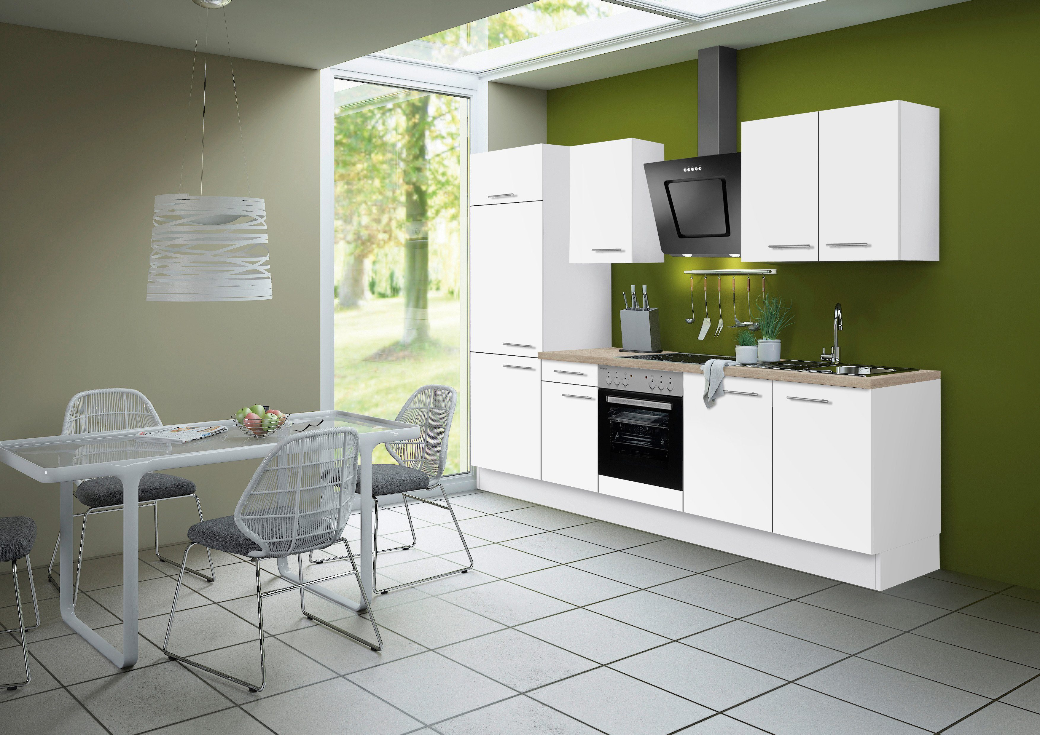 Optifit Küchenzeile ohne E-Geräte »Michel«, Breite 270 cm