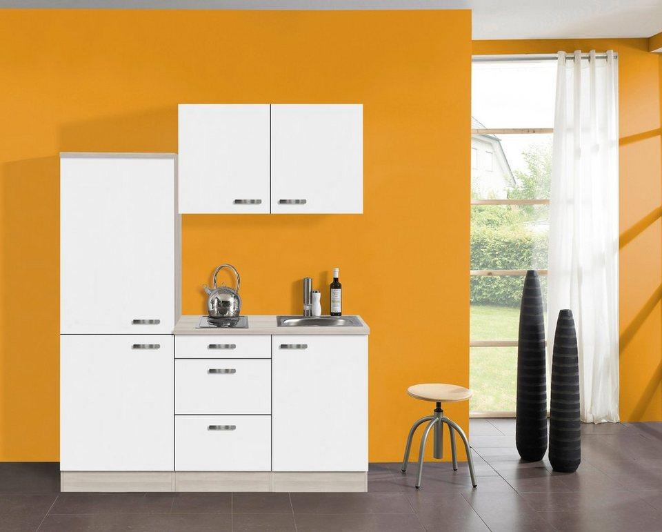 Optifit Küchenzeile mit E-Geräten »Skagen«, Breite 160 cm in weiß
