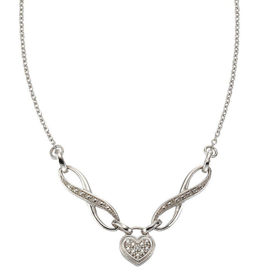 firetti Collier mit Diamant, »Herz« in Silber 925