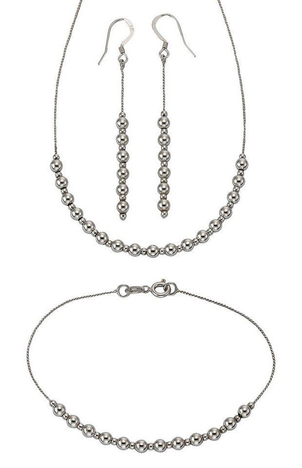 firetti Schmuckset: Halskette, Ohrhaken und Armband (4tlg.) in Silber 925