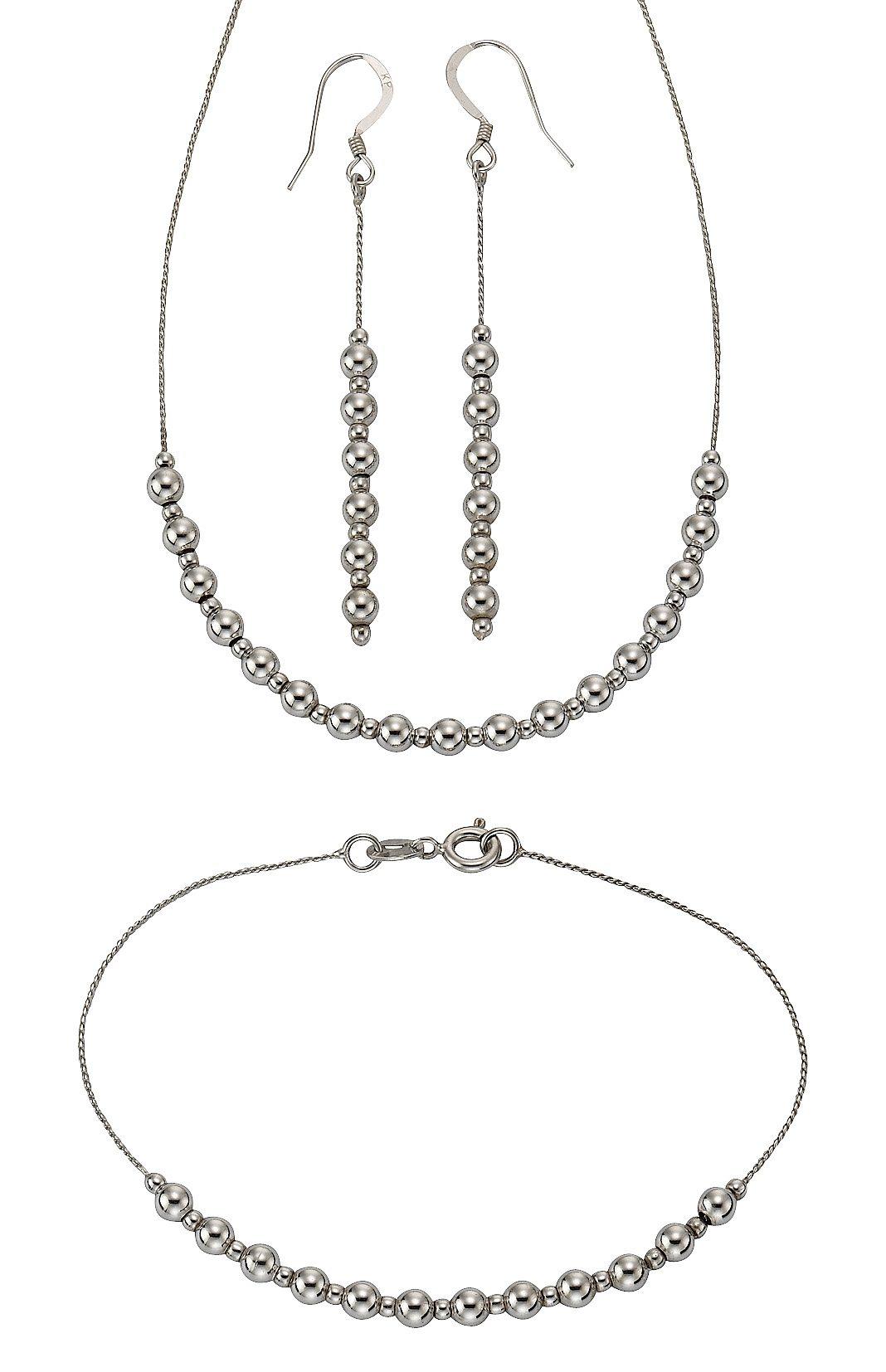 firetti Schmuckset: Halskette, Ohrhaken und Armband (4tlg.)