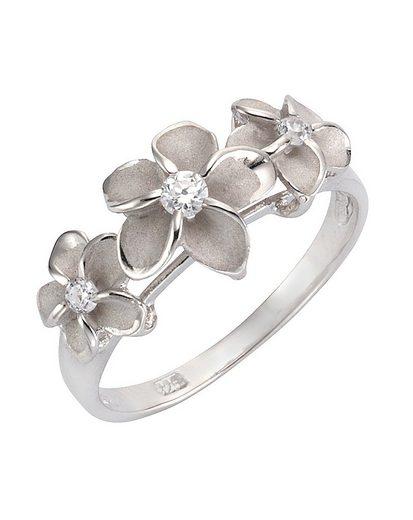 Firetti Silberring »Blume/Blüte« mit Zirkonia