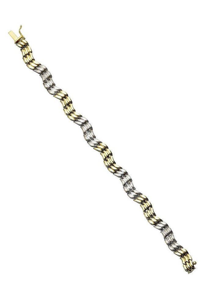 firetti Armschmuck: Armband in Fantasiekettengliederung in Gelbgold 333/bicolor
