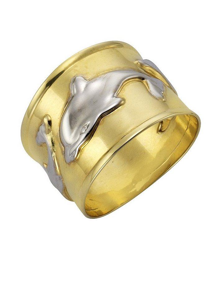 firetti Ring, »Delphin« in Gelbgold 333/bicolor