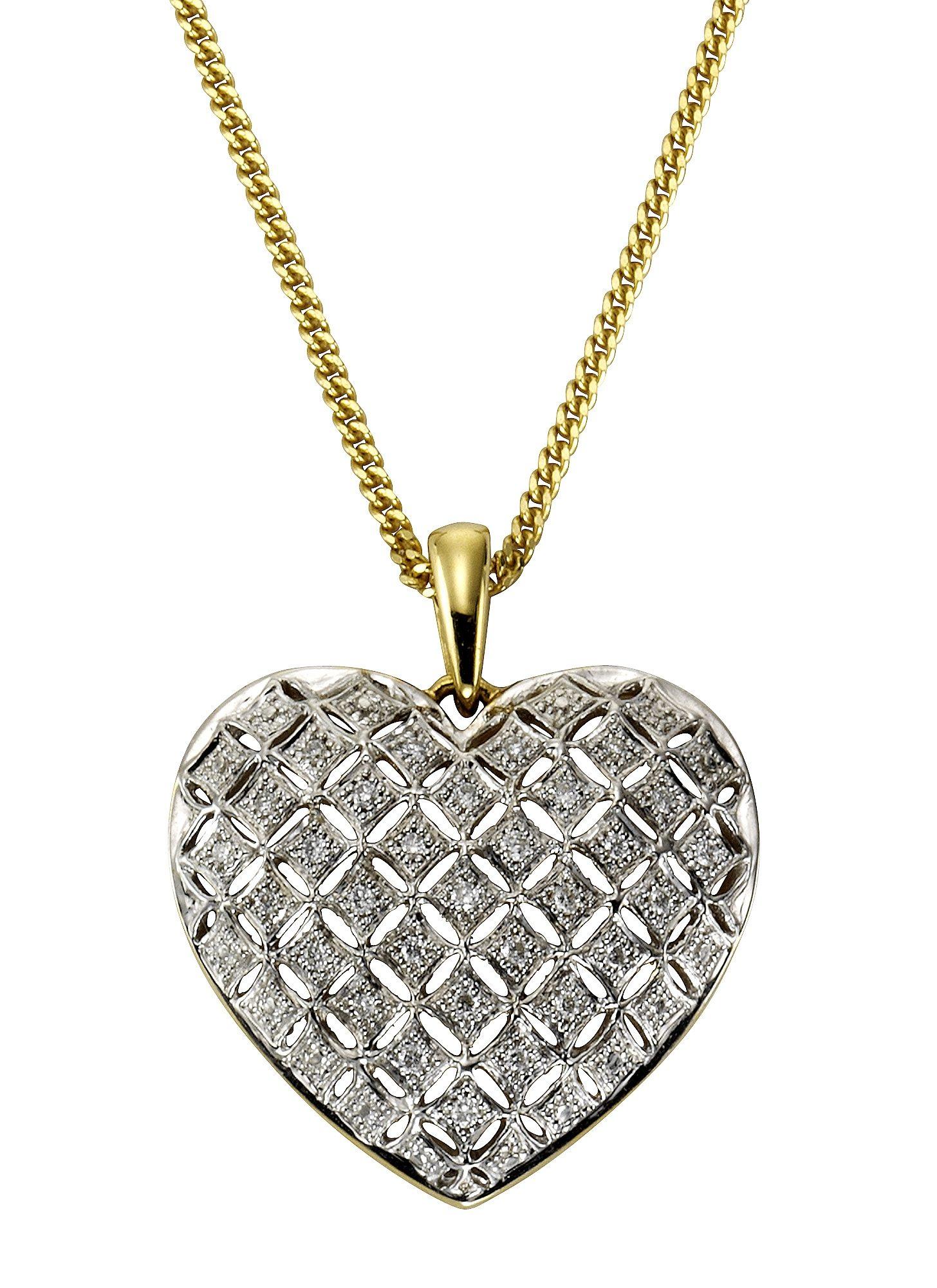 Vivance Anhänger »Herz« mit Diamanten