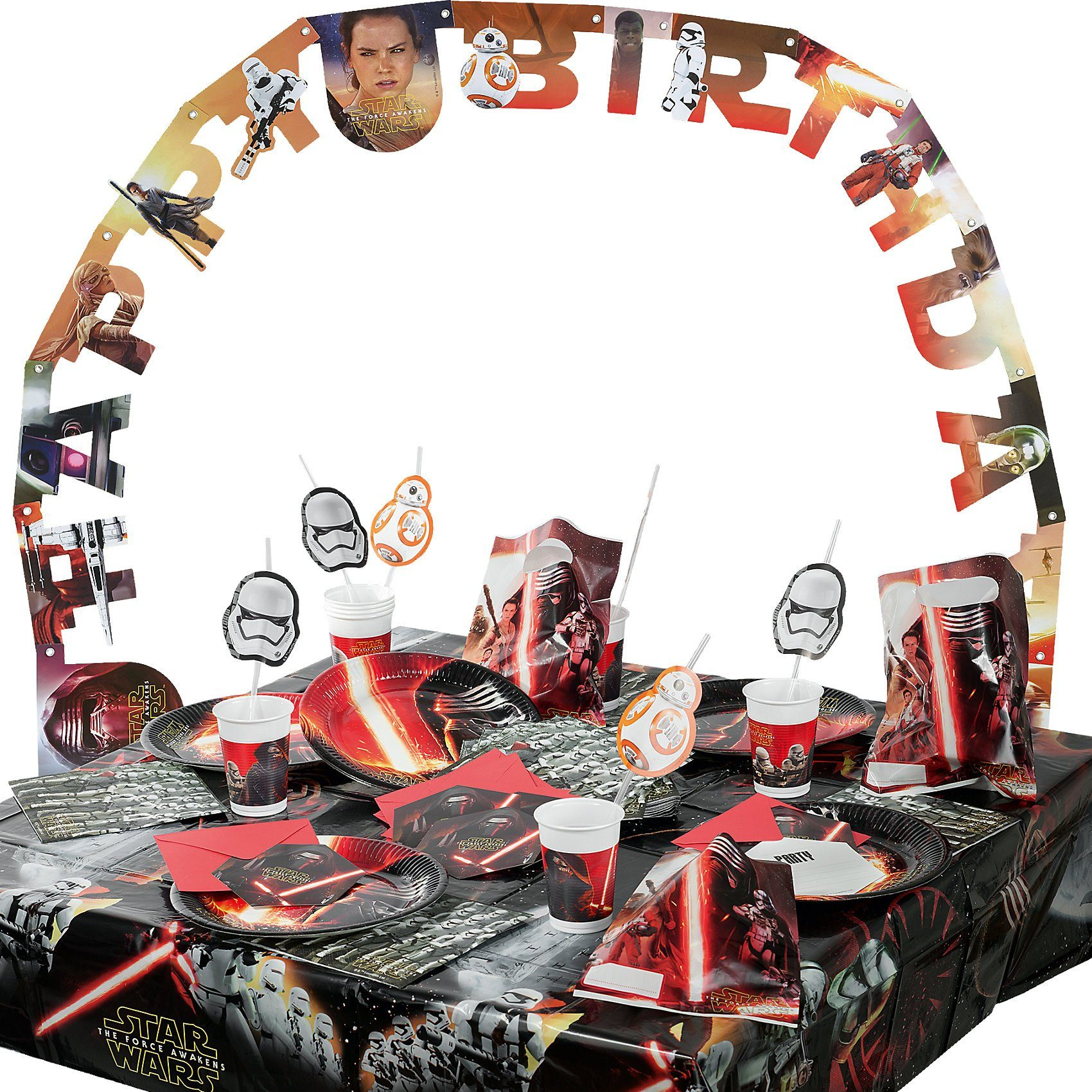 Procos Partyset Star Wars The Force Awakens; 56-tlg.