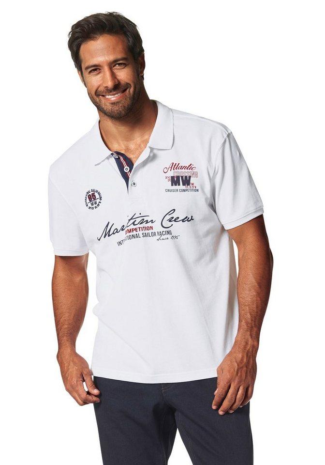 Man's World Poloshirt in Piqué-Qualität in weiß