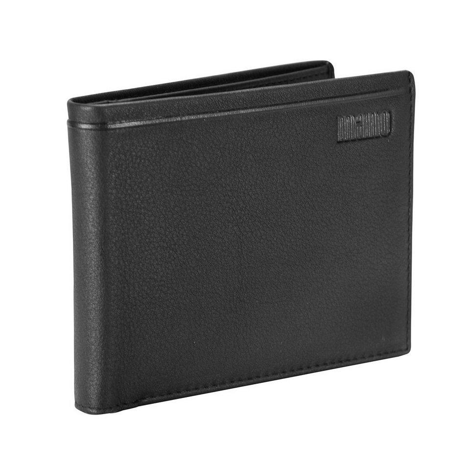 mano Dignus Geldbörse Leder 11,5 cm in schwarz