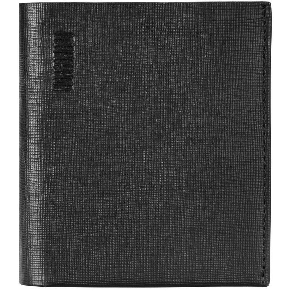 mano Conventus Geldbörse Leder 9,5 cm in schwarz-braun