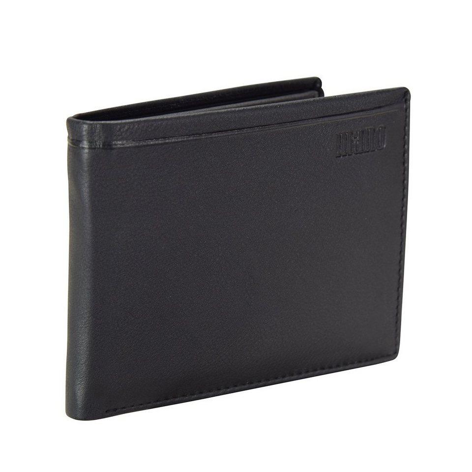 mano mano Dignus Geldbörse Leder 12 cm in schwarz