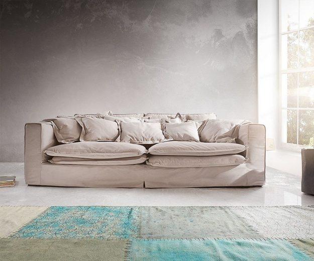 DELIFE Big Sofa Noelia 240x145 cm mit Kissen Hussensofa Design Sofa