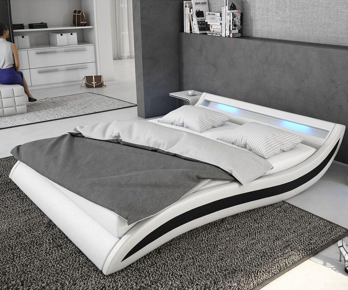kunstleder bett schwarz 140x200 preisvergleich die besten angebote online kaufen. Black Bedroom Furniture Sets. Home Design Ideas