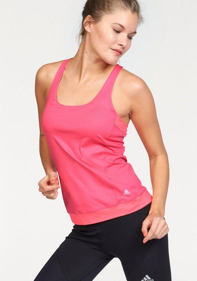 adidas Performance YOGI YIN TANK Yoga-Tanktop in Pink